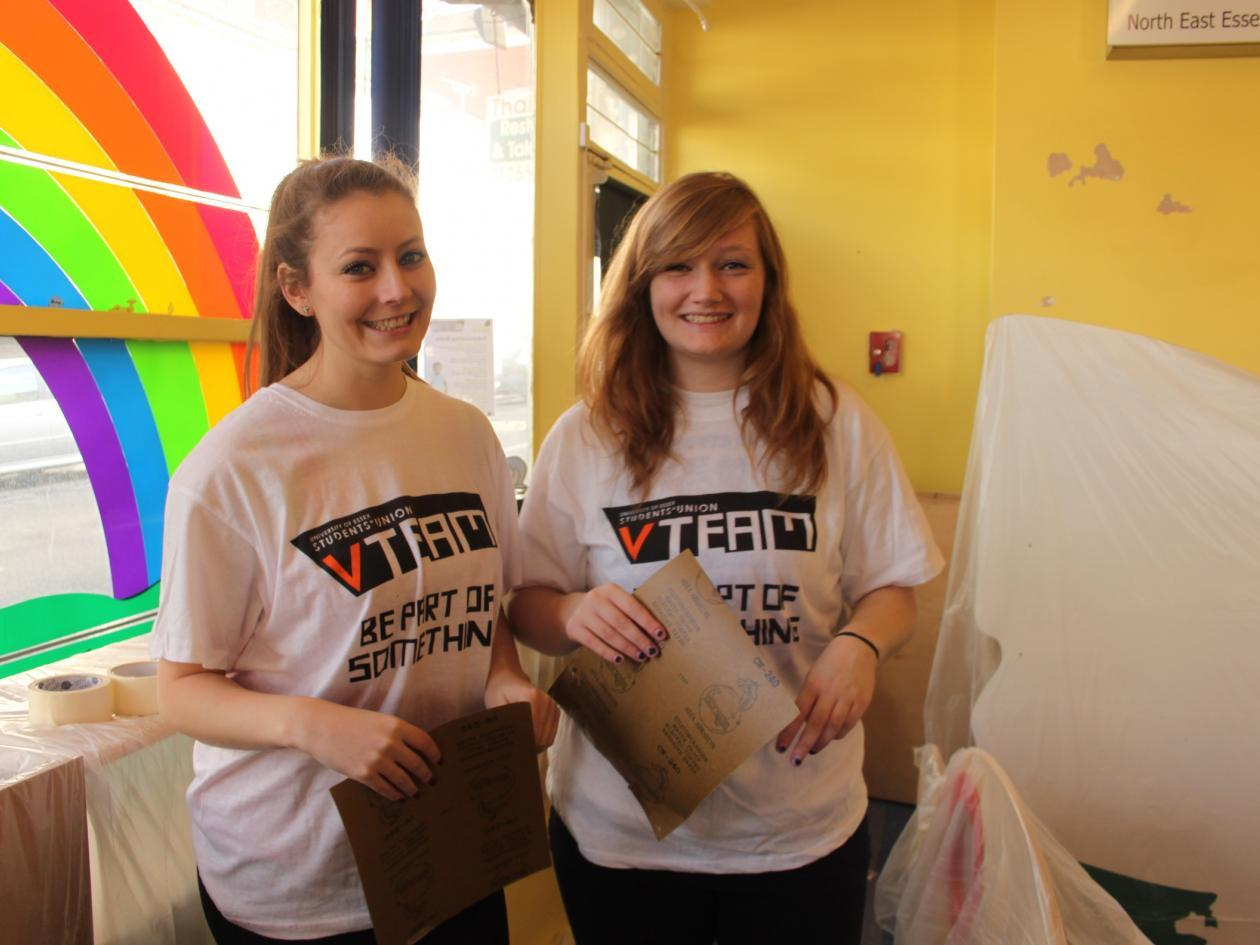 Student volunteers at the University of Essex