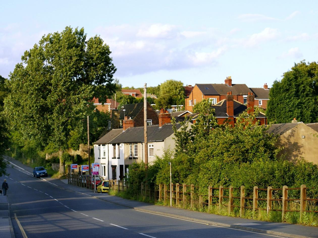 photo of village street