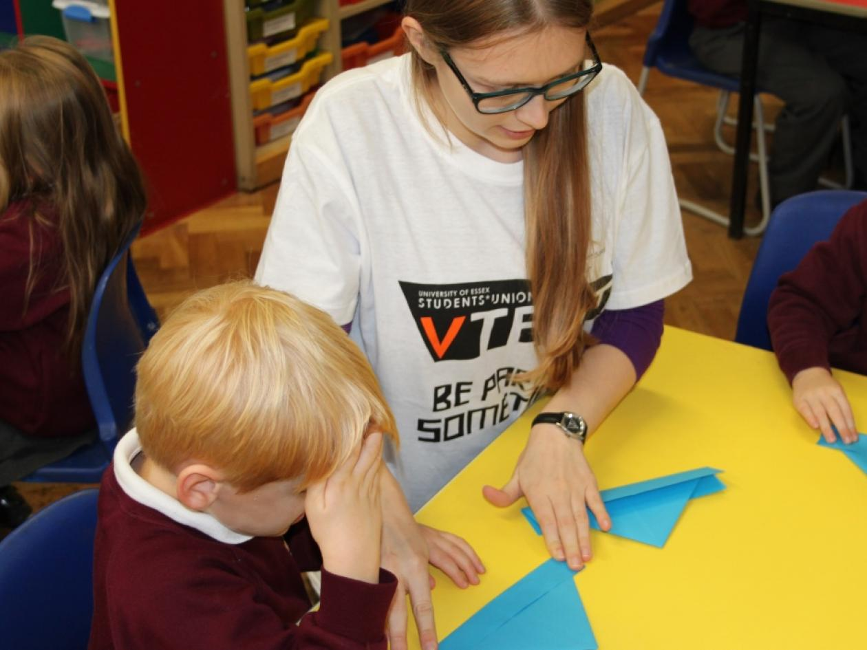 a student volunteer at the University of Essex