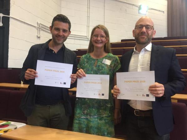 Neil Lee, Katy Morris and Thomas Kemeny at Understanding Society Conference