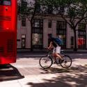 a cyclist on a London street